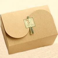 Graceful kraft dessert box / New design brown kraft paper cake box