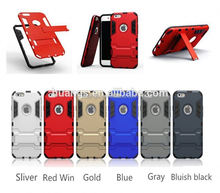 New arrival pc tpu anti-shock combo hard slim for iphone 6 plus armor case made in china