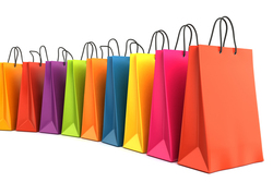 Custom Printed Kraft Paper Bag, Christmas Shopping Paper Gift Bag, Foldable Paper Shopping Bag
