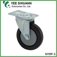 Elastic Rubber Swivel Caster Wheels