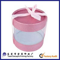 Wholesale Cardboard Round Macaron Cake Clear Plastic Packaing Box