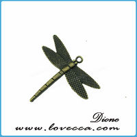 Dragonfly Charm Pendant Jewelry Findings Scarf Accessories
