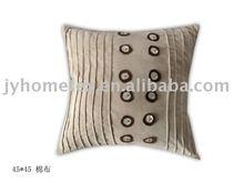 suede material applique cushion