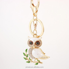 New Custom Metal Key Ring Crystal Owl Car Wholesale Keyring SK2406
