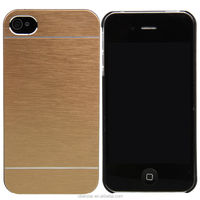 Newest Luxury For Apple iPhone 4 4S Aluminum Metal Brushed Hard Slim Case Cover