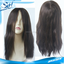 Silk top women full cap with elastic on ear part wig