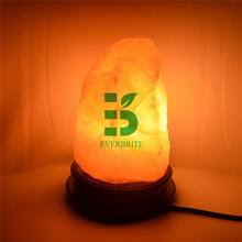 Himalayano rock lampada di sale, naturale ad aria purificata lampada di sale himalayano neem con base in legno, lampadina led e UE/ci spina