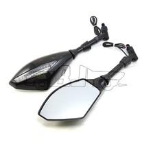 BJ-RM-016B Super bright custom LED signal light integrated mirror motorcycle