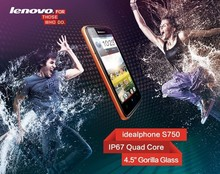 Original Lenovo S750 4.5inch Waterproof Android 4.2 MTK6589 Quad Core Mobile Cell Phone 1.2GHz WCDMA/GPS IPS Smart Phone