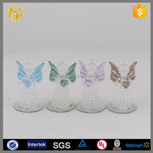 Hot sell clear glass angel ,stained glass angel hanging wedding decoration gifts