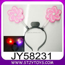 Kids plastic led hairpin light up hairclip for party