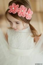 elastic plastic headband with flowers for kids
