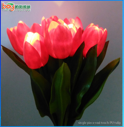 Build in LED real touch tulip fack flowers with led light