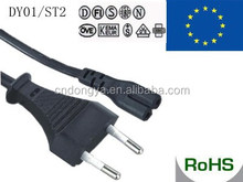 VDE approval 250V flat electrical power extension cord