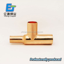 high quality alibaba china copper plumbing hydraulic tee fittings