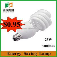 China Supplier half spiral&U shape energy saving light bulb factory 3000hrs 6000 hrs 8000 hrs