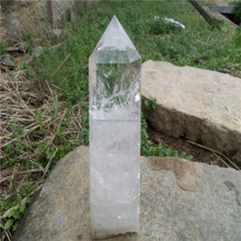 Wholesale Natural polished clear crystal point Quartz SingleTerminated Point/Prism rock clear crystal