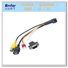 BFX-033 5556 connector to VGA USB RCA wire harness
