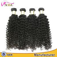 XBL hair natural color kinky curly virgin Bohemian weave hair extensions