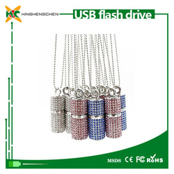 USB stick Diamond 16 GB crystal necklace usb flash drive 32gb
