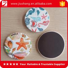 Custom round epoxy ceramic fridge magnet with printing logo