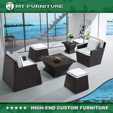 space saving rattan wicker sofa set outdoor furniture