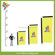 Telescopic beach banner with pole have three different size using in various locations swooper flag kits