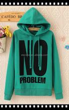 2015 New Custom Made High Quality Girls Varsity Hoodie Jackets With Big Printed