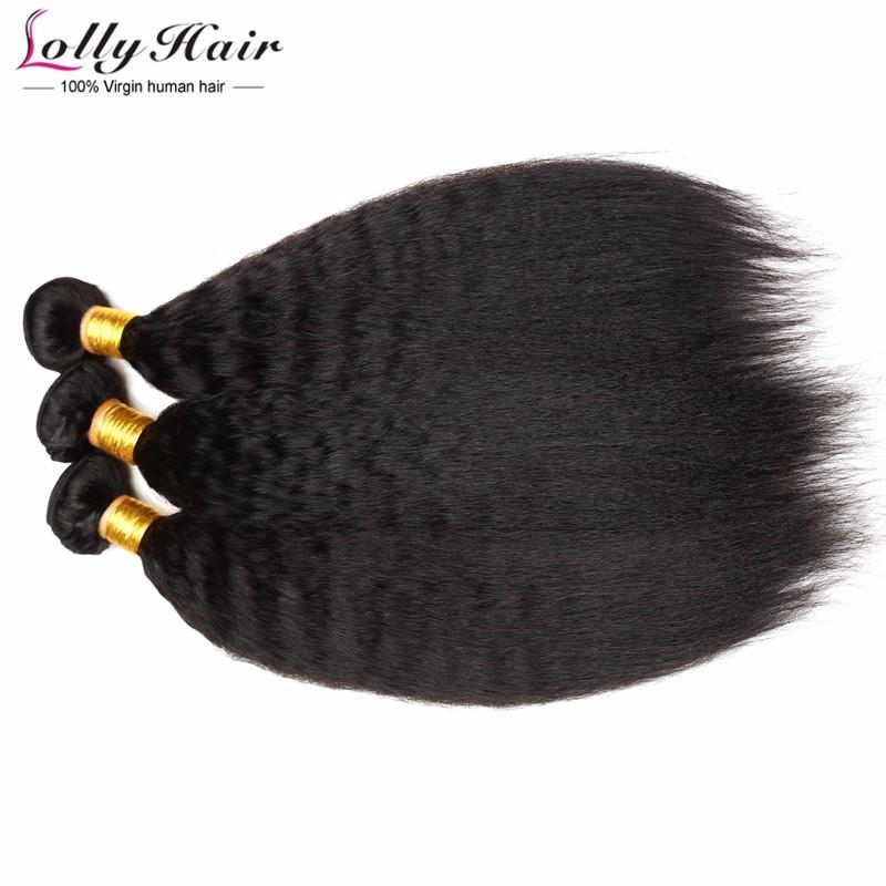 Brazilian kinky yaki straight virgin human hair extension