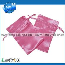 Fashion hot selling white satin pouch bags