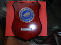 Competition Shield shaped Wooden Medal