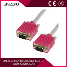 NEW High Quality HD15 VGA cable male to mal/VGA15 Male monitor cable with 2 ferrites