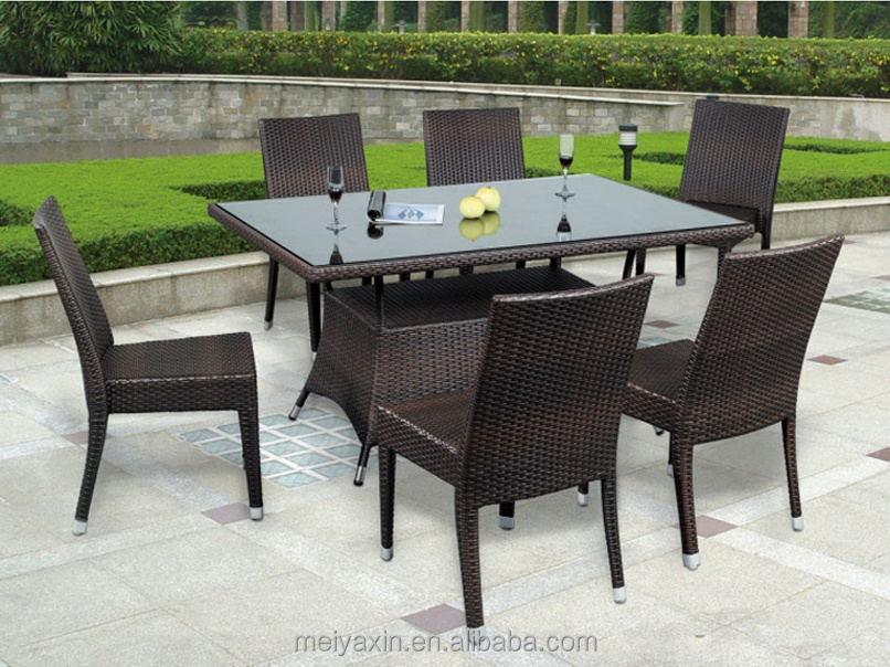 Hot Selling Garden Furniture Rattan Dining Set Md D14