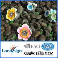 2016 hot style solar lamp outdoor XLTD-1563 solar resin LED light with flower design