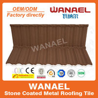 Traditional Wanael stone coated roof tile/lowes metal roofing cost/low cost house construction material