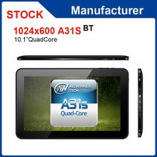 10.1 inch Allwinner A31S quad core 1GB RAM 16GB ROM android 4.4 tablet pc