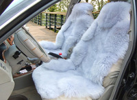 customized natural sheepskin fur China wholesale car seat cover long and low wool