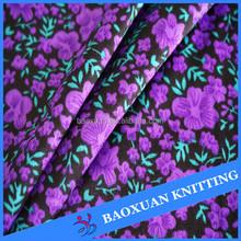 polyester interlock fabric flower priting woman dress girl dress