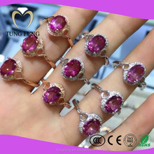 Beautiful Pinky Topaz 925 Sterling Silver Rings