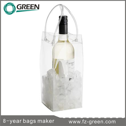 Fashion Clear plastic cooler bag for wine