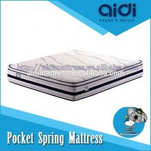Raw 3D Material Coconut Palm Pocket Spring Cotton Fabric Latex Mattress