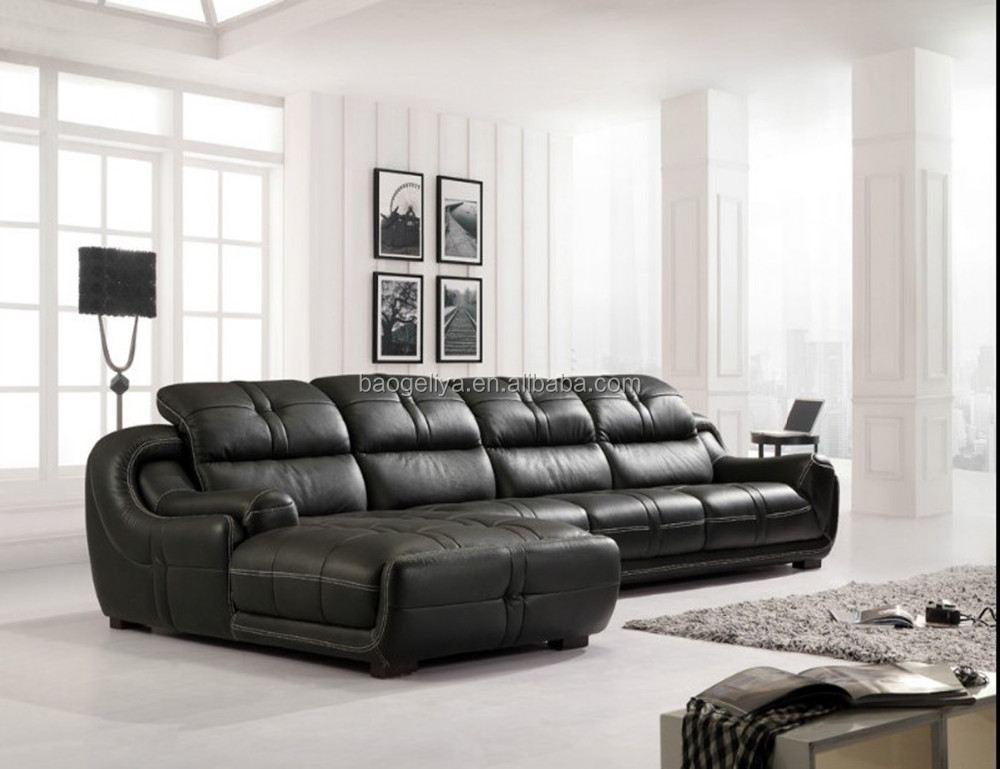 Best quality sofa living room furniture leather sofa 8802 for Family room leather furniture