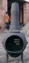 Lareira de ferro fundido, ferro fundido chimenea