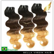 la belleza de estilo onda del cuerpo al por mayor baratos precio brasileño ombre de onda del pelo