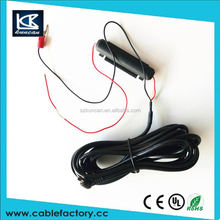 New product Camera wire 1 to 2 dc 2.5*5.5mm with black box fuse cable