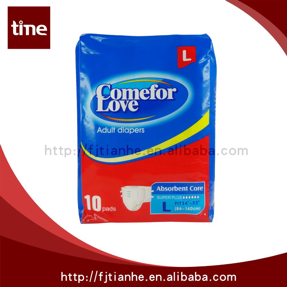 2015 Best Selling Super Soft ComeforLove Baby Adult Diaper With Free Samples