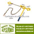 Eléctrico alambre de la cerca herramienta de apriete 1.2m con cadena galvanizada
