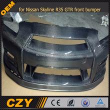 carbon fiber front bumper for nissan gtr-r35 body kit