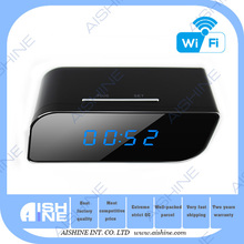Best quality clock p2p AP function no need internet 100 degree wide angle 5 MP 720P HDtable clock wifi camera