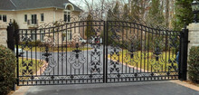 decorative swing wrought iron gates/ forged iron gate / 2015 best selling design of the gate